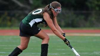 Lindenhurst's Paige Gillespie moves the ball downfield during
