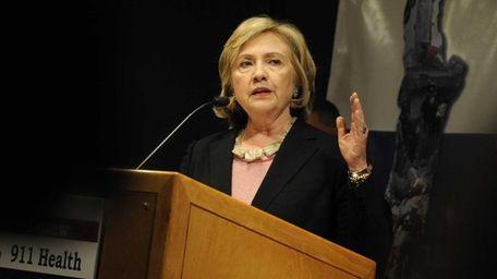 Hillary Rodham Clinton speaks at a Manhattan fundraiser