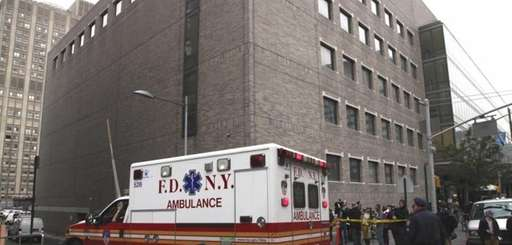 FILE: An ambulance leaves Bellevue Hospital in Manhattan,