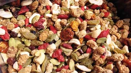 Wild berry sprouted trail mix is sold in