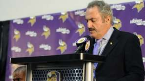 Owner Zygi Wilf of the Minnesota Vikings speaks