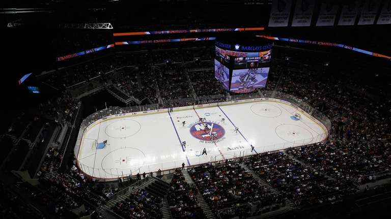 The Islanders and the New Jersey Devils drop