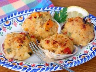 Baked clams, which just may be Long Island's