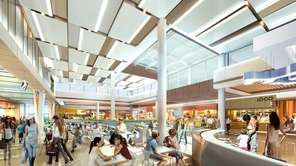 A rendering of the Roosevelt Field's Dining District,
