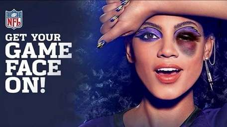 A Cover Girl ad showing use of makeup