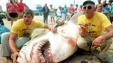 A 3,450-pound great white shark nicknamed