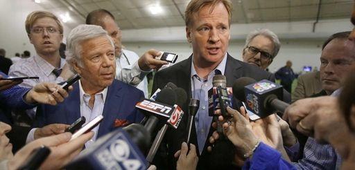NFL Commissioner Roger Goodell addresses the media on