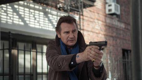 Liam Neeson, as Matt Scudder, in a scene