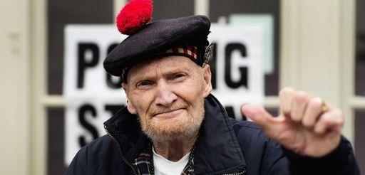 Former Gordon Highlander, Jock Robertson, 81, who said