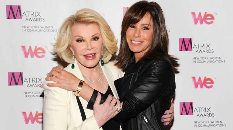 Joan Rivers and daughter Melissa Rivers attend the
