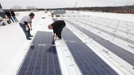 Solar panels are installed by SUNation Solar Systems