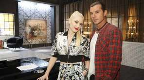 """The Voice"" coach Gwen Stefani and her husband,"