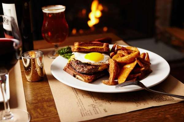 The Davey Gravey burger, served at Old Fields'
