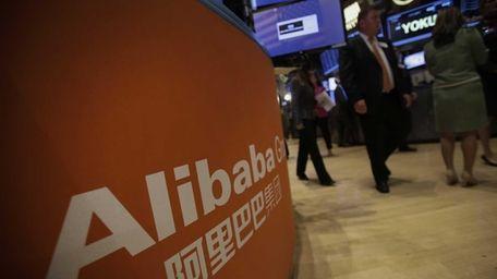 Alibaba Group Holding Ltd. signage is displayed on