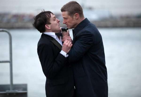 Robin Lord Taylor, left, and Ben McKenzie in