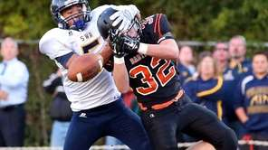 Babylon running back Stephen Schweitzer has the pass