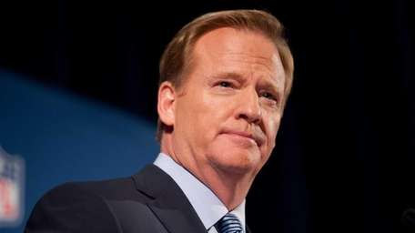 NFL commissioner Roger Goodell speaks at a press
