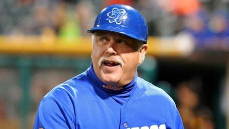 Las Vegas 51s manager Wally Backman (6) during