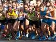 Runners take off from the starting line at