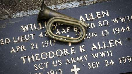 The bugle with which Theodore Allen saved lives