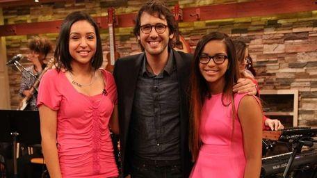 Julianna Padilla, Josh Groban and Isabella Negron. Padilla