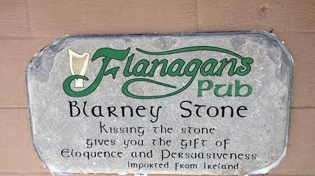 The Flanagan's Pub Blarney stone. According to the