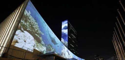 An architectural light show entitled illUmiNations: Protecting Our