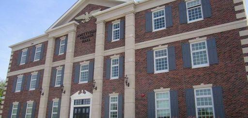 Amityville Village Hall is shown.