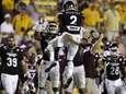 Mississippi State defensive back Will Redmond (2) celebrates