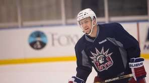Rangers center Derek Stepan (21) during training camp