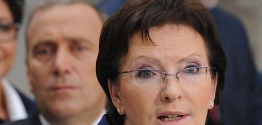 Poland's Prime Minister-designate Ewa Kopacz speaks during the