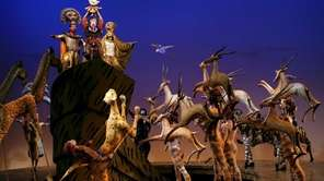 "Disney's ""The Lion King"" at Broadway's Minskoff Theatre."
