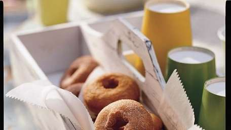 The applesauce doughnuts recipe can be found in