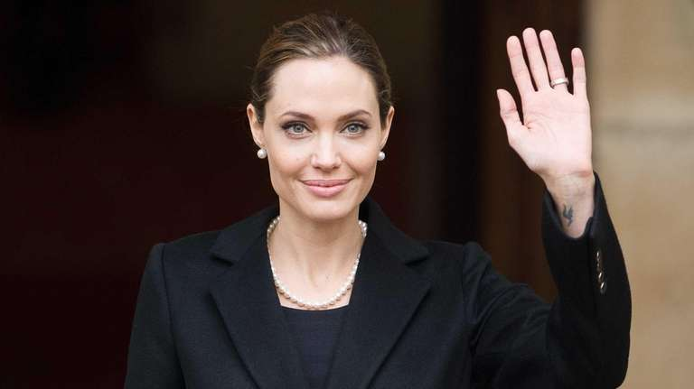 Angelina Jolie leaves Lancaster House in central London