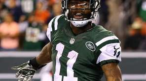 Jets wide receiver Jeremy Kerley celebrates a second-quarter
