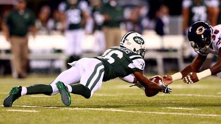 Jets wide receiver Jalen Saunders and defensive back