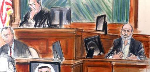 In this file courtroom sketch Osama bin Laden's