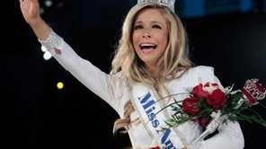 Kira Kazantsev, newly crowned Miss America 2015, walks