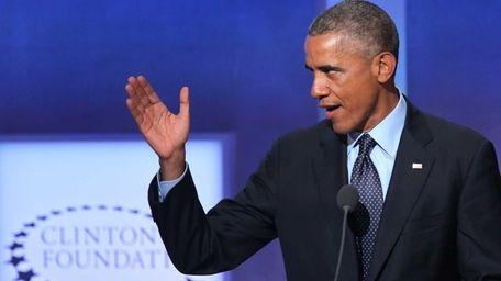 President Barack Obama addresses the Clinton Global Initiative