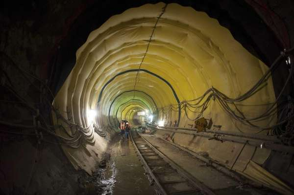 Contractors work on the East Side Access Project