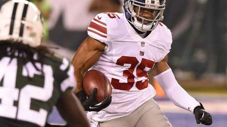 Giants free safety Quintin Demps (35) returns a
