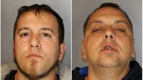 From left, Jeffrey Iarocci, 39, and Michael Wehle,