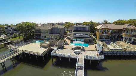 This renovated 1926 home overlooking Reynolds Channel in