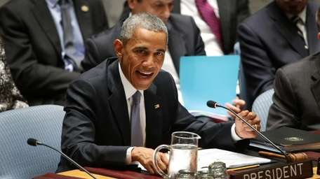 President Barack Obama speaks during a high-level United