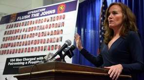 Nassau DA Kathleen Rice announces the results of