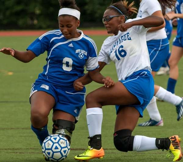 North Babylon's Skye Prosper (9, left), and Copiague's