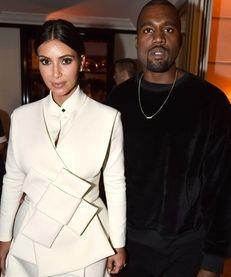 Kim Kardashian and Kayne West attend the Buro