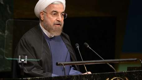 President of Iran Hassan Rouhani addresses the 69th