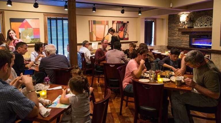 The dining room at George Martin's Grillfire in