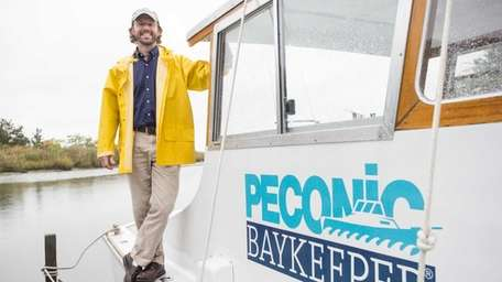Brady J. Wilkins, the newly appointed Peconic Baykeeper,